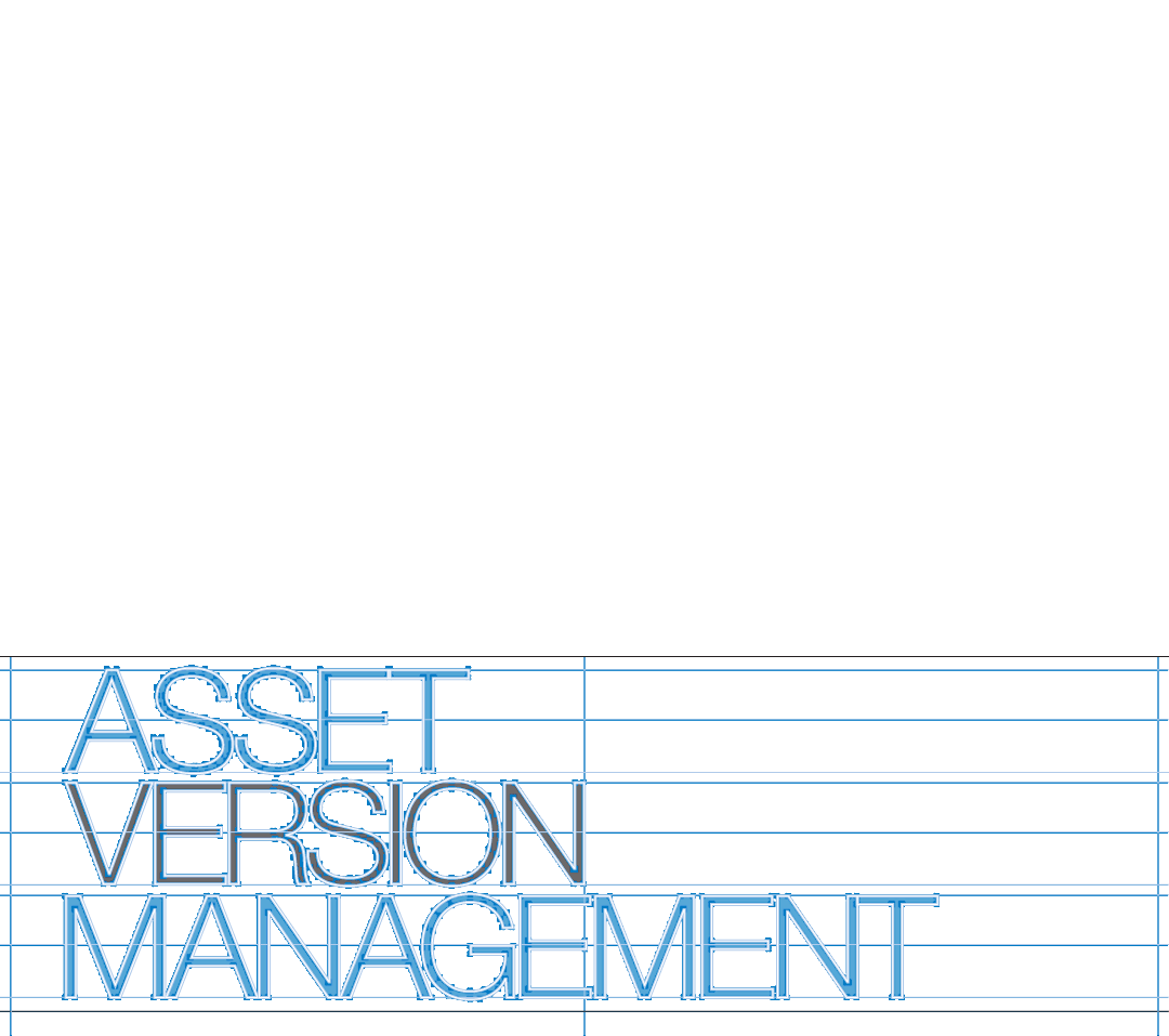 Asset Version management typographic