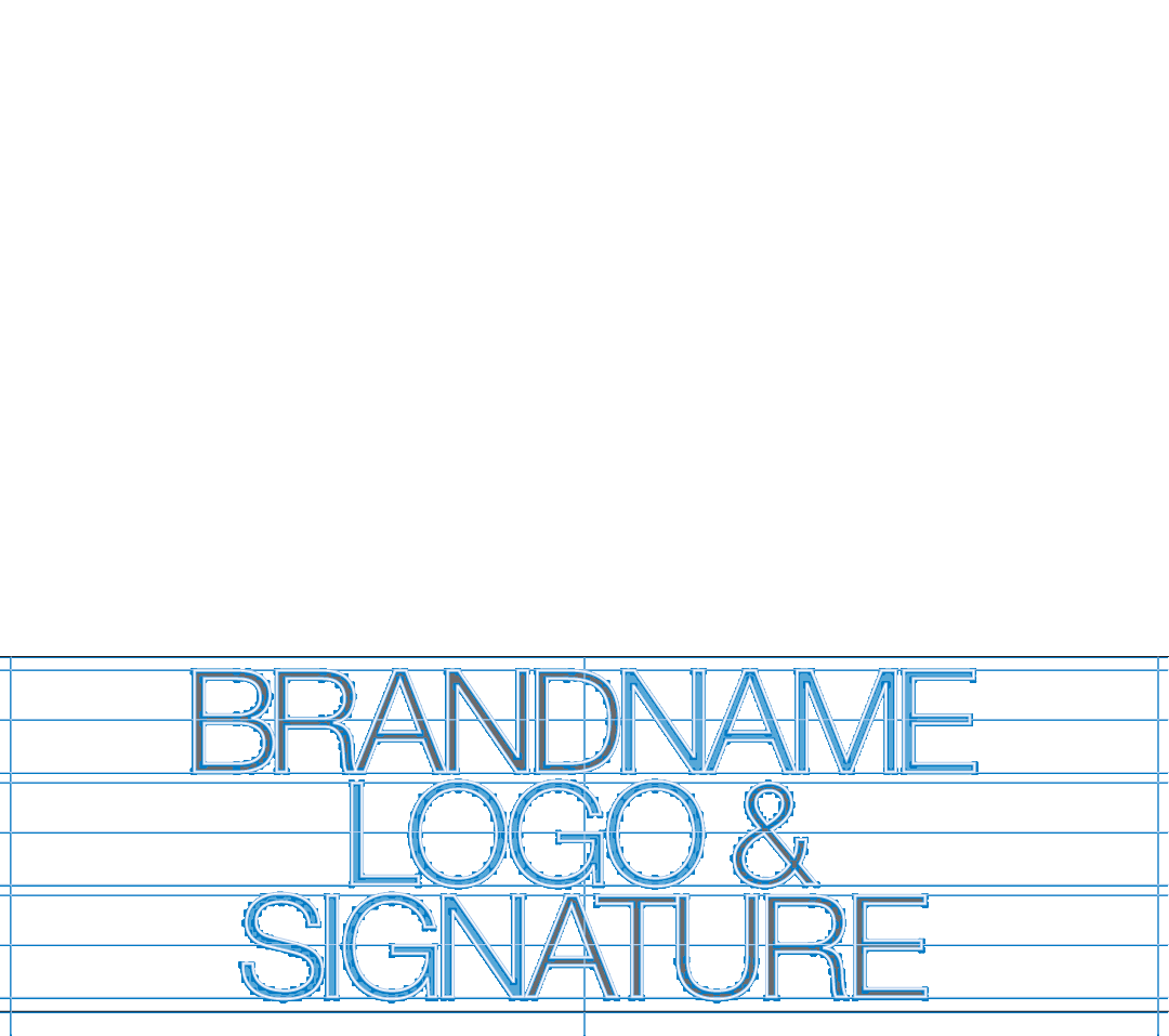 Brandname logo and signature typographic