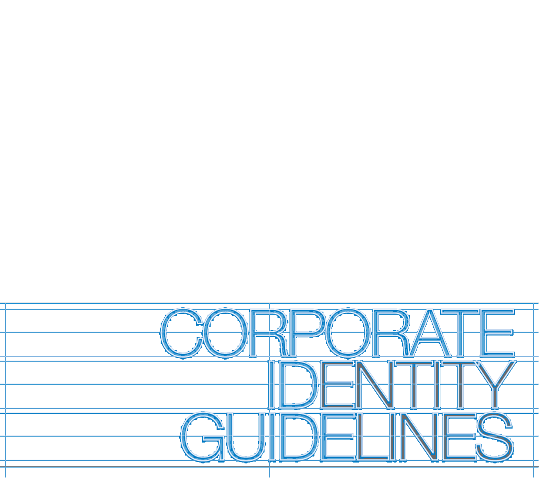 Corporate Identity Guidelines typographic